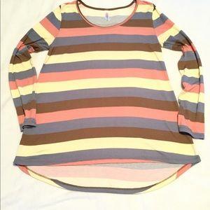 LulaRoe striped top,Size S, multi color